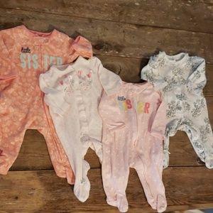 Bundle of 4 baby girl onesies